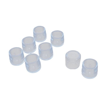 Unique Bargains 8 Pcs Antislip Rubber Round 25 mm Chair Foot Cover Table Furniture Leg Protector Clear Blue ()