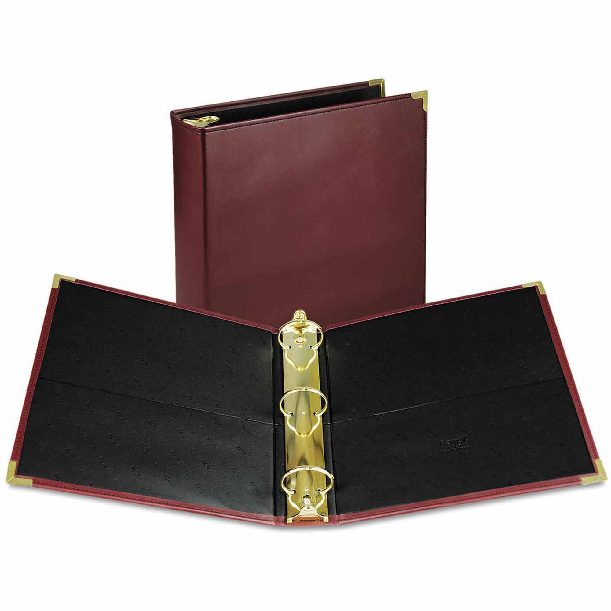 "Samsill Classic Collection Ring Binder Portfolio, 11 x 8 1/2, 2"" Capacity, Burgundy"