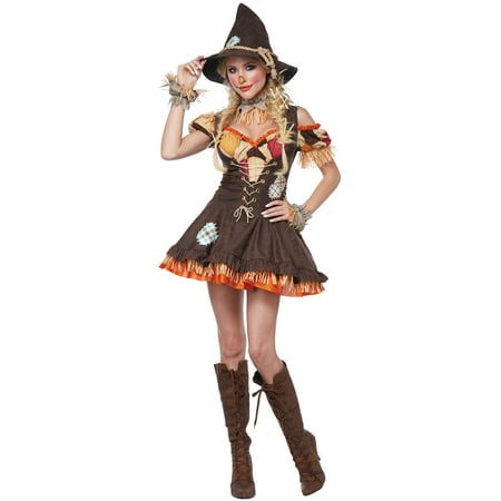 Sassy Scarecrow Adult Costume - Scarecrow Costume For Adults
