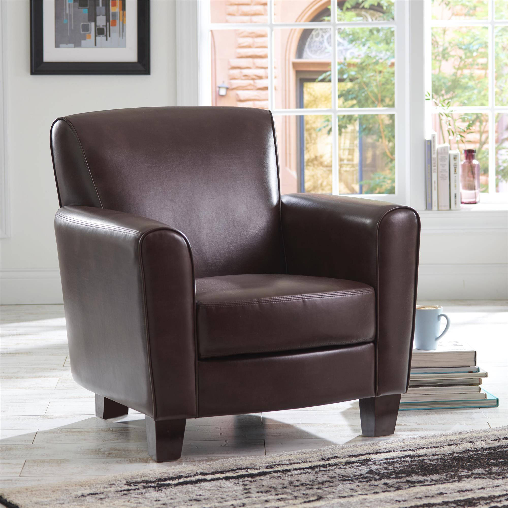 better homes and gardens ellis club chair brown walmart com