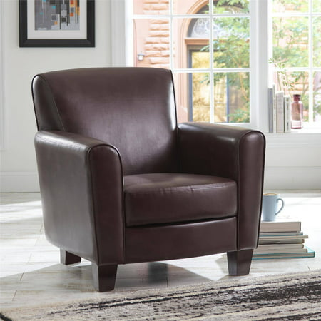 Better Homes and Gardens Ellis Club Chair, Brown - Walmart.com