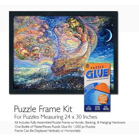 Jigsaw Puzzle Frame Kit Featuring Masterpieces Puzzle