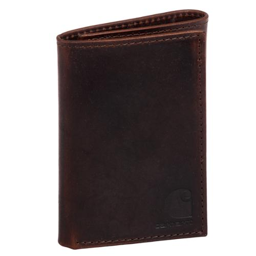 One Size Carhartt Men/'s Billfold Wallet Duck Brown