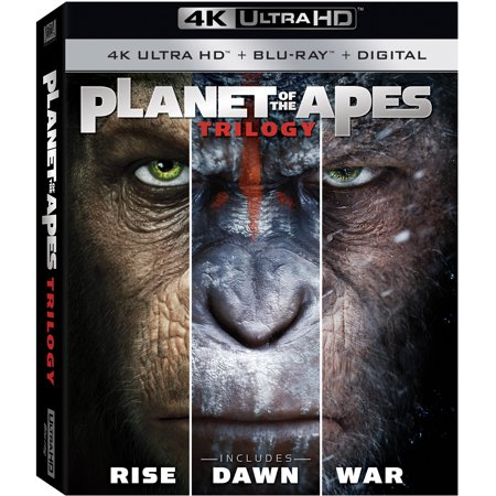 Planet of the Apes Trilogy (4K Ultra HD + Blu-ray + Digital)