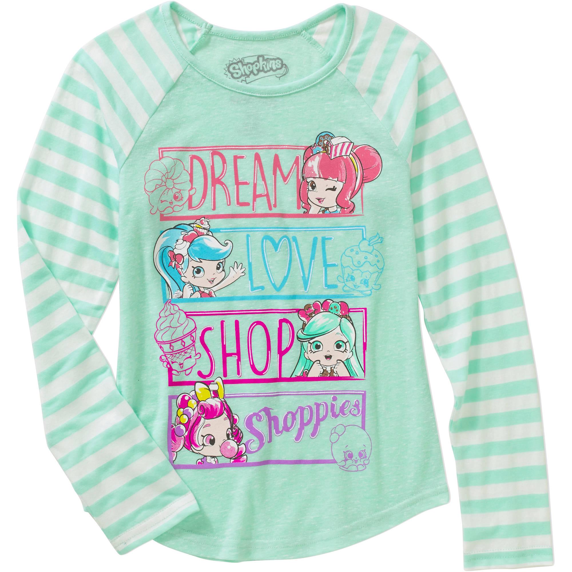 Girls\' Shoppies Dream Love Shop Graphic Tee - Walmart.com