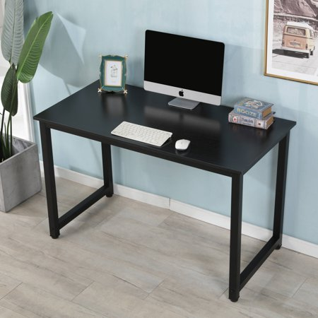 "Laptop Desks for Small Spaces, 47"" Modern Wooden Computer Table"