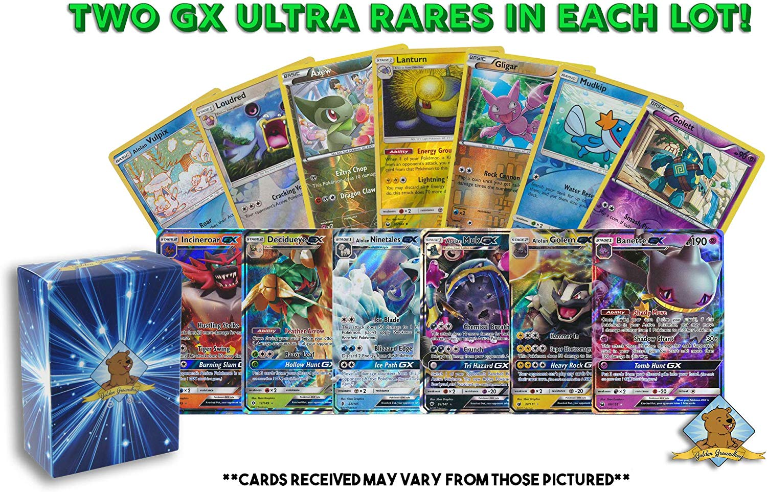 - NM//M EX//GX Pokemon Mystery 20 Card Lot Guarenteed Holo Rare or BETTER