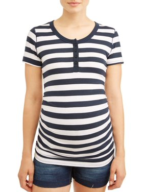 69e159553aa40 Product Image Maternity Button Front Scoop Neck Knit Top - Available in  Plus Sizes