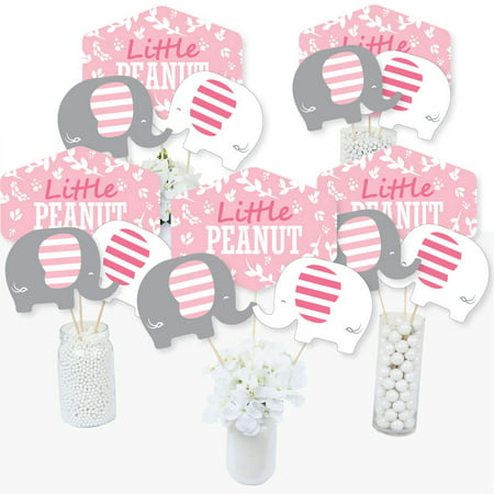 Pink Elephant - Girl Baby Shower or Birthday Party Centerpiece Sticks - Table Toppers - Set of 15 - Bridal Shower Centerpiece Ideas