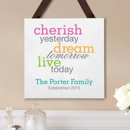 Live Well Plaque (Personalized Cherish Dream Live Wood)