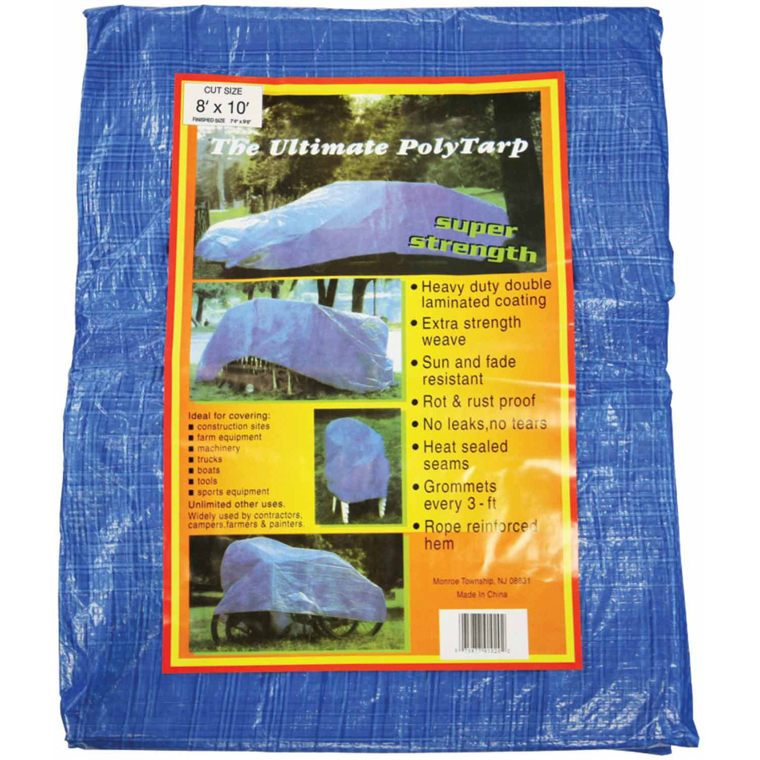 Howard Berger V810 Reinforced Plastic Tarp, 8' x 10'