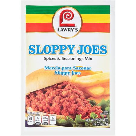 (2 Pack) Lawry's Sloppy Joe Seasoning Mix, 1.5 oz