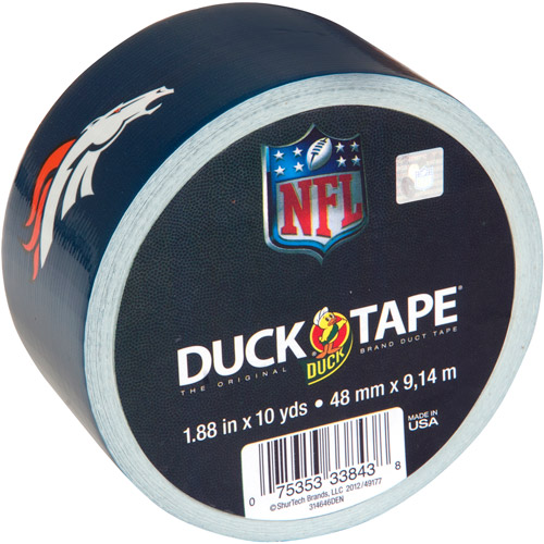 "Printed NFL Duck Tape 1.88""X10yd-Denver Broncos"