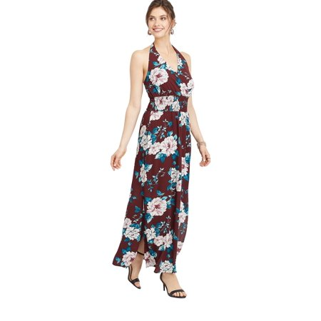 maurices Floral Print Maxi Dress - Women?s Halter Top