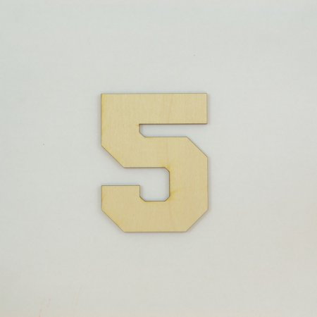 1 Pc, 10 Inch X 1/4 Inch Thick Collegiate Font Wood Numbers 5 Easy To Paint Or Decorate For Indoor Use Only