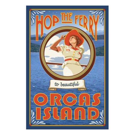 Orcas Island, Washington, Hop the Ferry Print Wall Art By Lantern Press