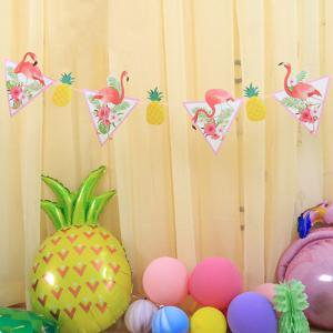 Fancyleo Flamingo Garland Set Summer Hawaiian Party Banner Hanging Decor like a Pineapple](Hawiian Garland)