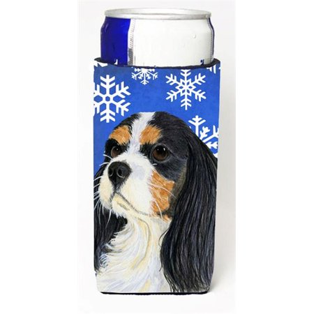 Carolines Treasures LH9279MUK Cavalier Spaniel Winter Snowflakes Holiday Michelob Ultra bottle sleeves For Slim Cans - 12 oz. - image 1 of 1