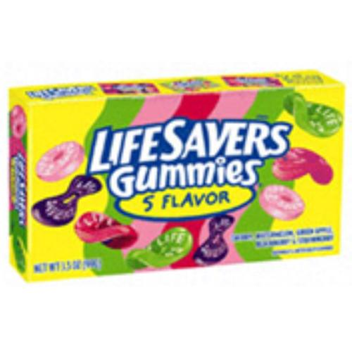 Lifesavers Gummi 5 Flavor Theater Box 12 pack (3.5 oz per pack) (Pack of 2)