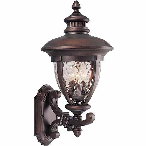 "Design House 508309 Tolland Outdoor Uplight, 10.5"" x 22.75"", Patina Bronze Finish"