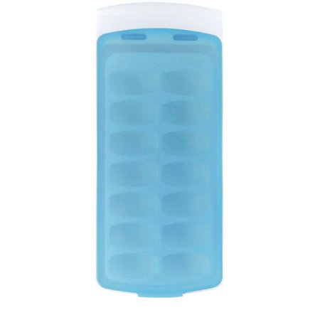 - No-Spill Ice Cube Tray - Single Tray with Lid