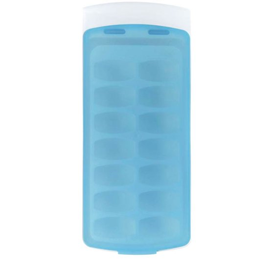 No Spill Ice Cube Tray Single Tray With Lid Walmartcom