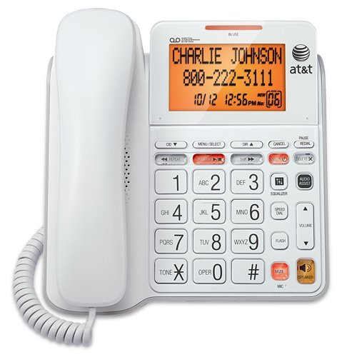 Corded Phone, Att Cl4940 Landline Home Office Desk Corded Phone Speaker,  White