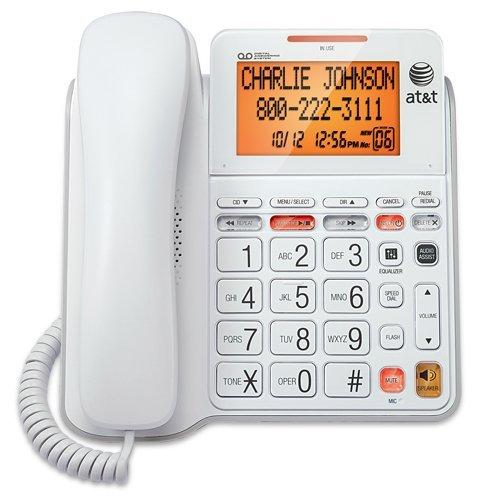 Corded Phone, Att Cl4940 Landline Home Office Desk Corded Phone Speaker,  White