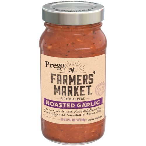 Prego Farmers' Market Roasted Garlic Sauce, 23.5 oz.