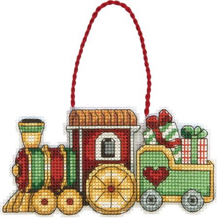 Susan Winget Train Ornament Counted Cross Stitch Kit, 3, 3/4