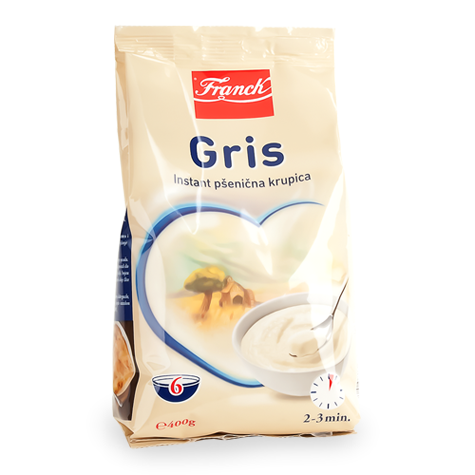 Gris, Instant Cream of Wheat Dry Cereal (Franck) 14oz (400g)