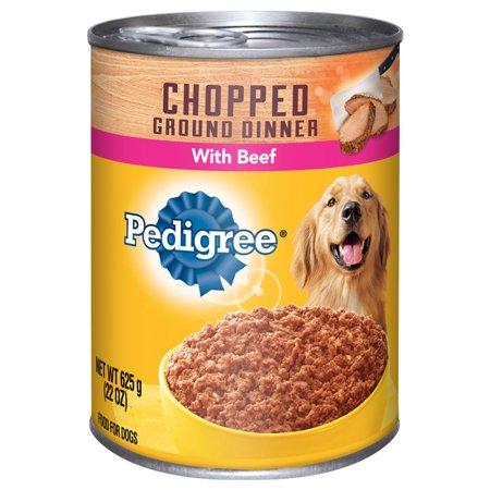 Pedigree émincé de boeuf au sol Dîner humide nourriture pour chiens 22 onces Pouvez