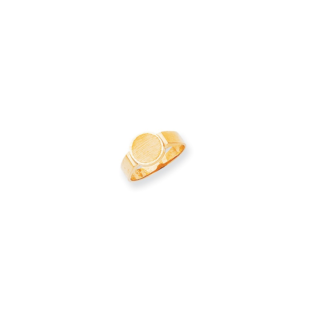 14k Yellow Gold Engravable Signet Ring (7.8mm x 8.1mm face)