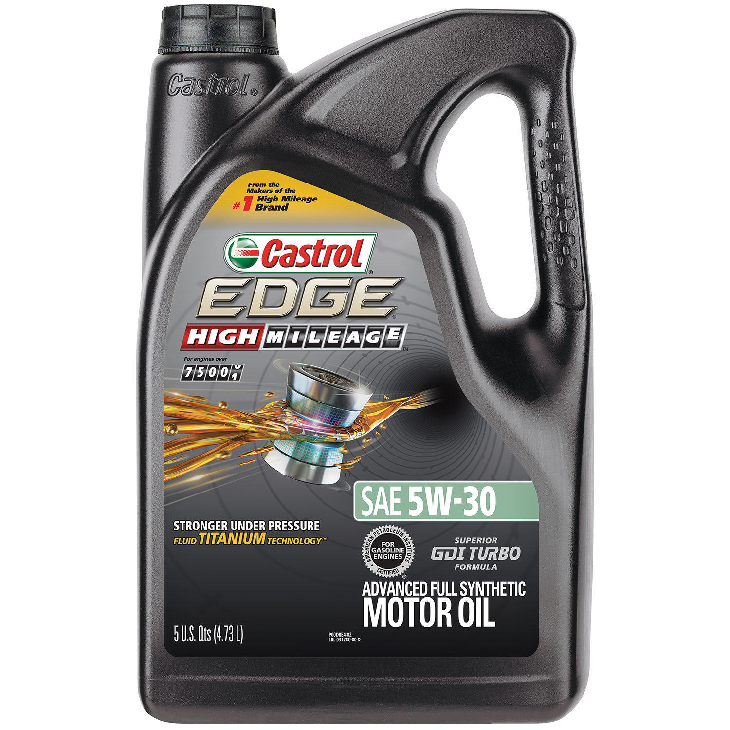 Castrol EDGE High Mileage 5W-30 Advanced Full Synthetic Motor Oil, 5 QT