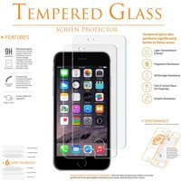 iPhone 6 6S Screen Protector [2 Pack] Tempered Glass, Anti-Scratch, Clear, Self-Adhere, Bubble-Free for Apple iPhone 6, iPhone 6S