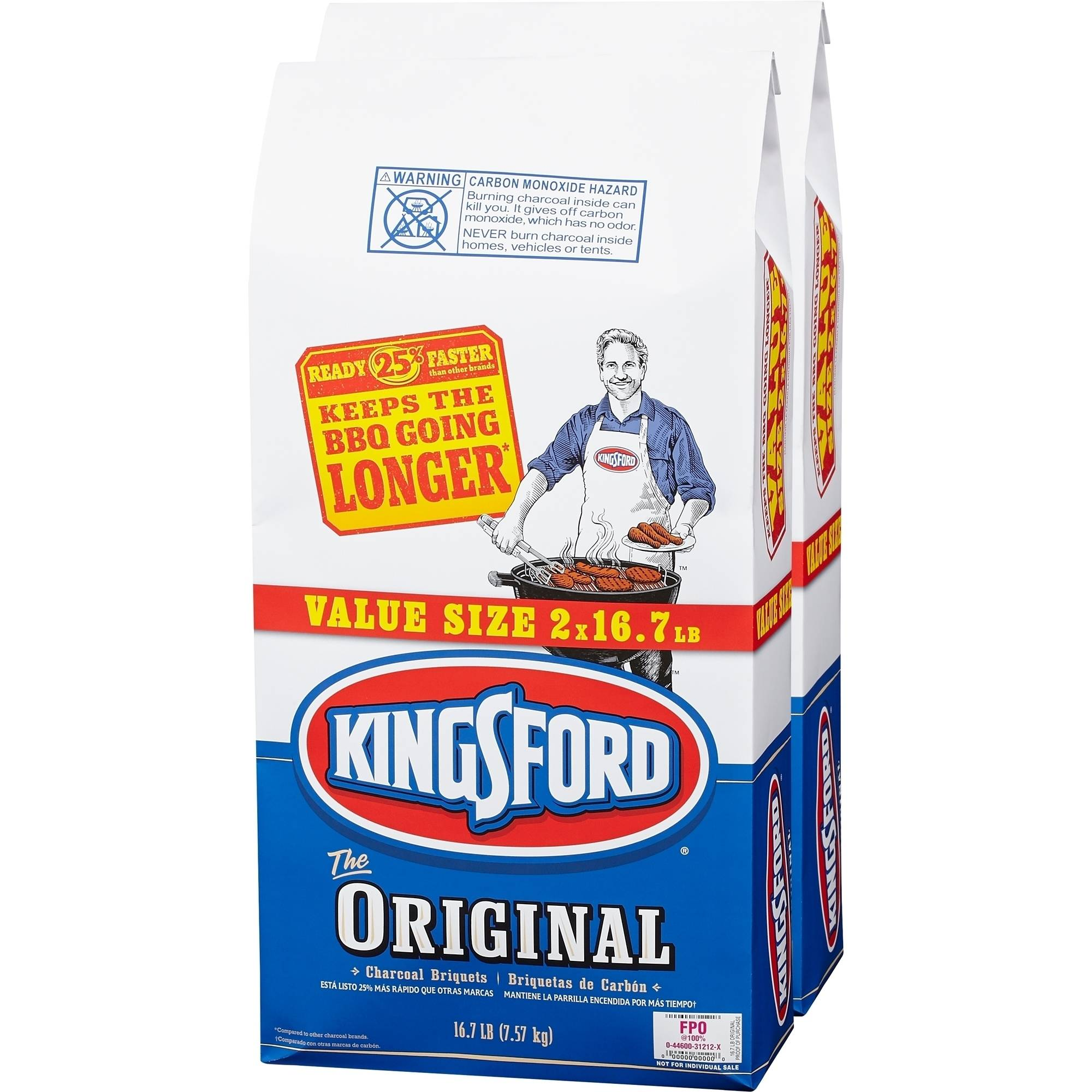 Kingsford Original Charcoal Briquets, 16.7 lbs, 2 ct