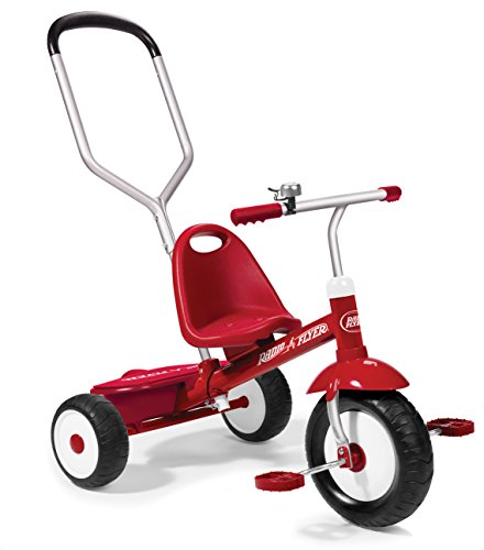 Radio Flyer Deluxe Steer and Stroll Trike by