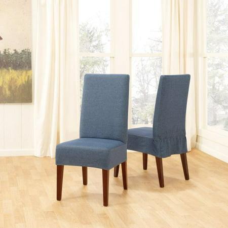 Sure Fit Denim Short Dining Room Chair Cover Walmartcom