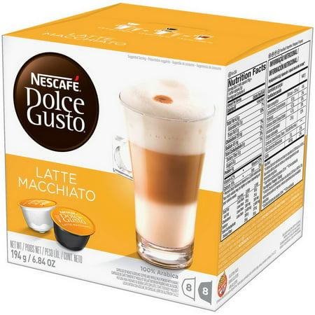 (Price/CASE)Nescafe 17501059273266U Nescafe Dolce Gusto Coffee Capsules Latte Macchiato 3 X 16 Capsules Makes 24 (Delonghi Nescafe Dolce Gusto Genio Edg455t Coffee Maker)