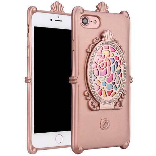 "KIKO Wireless Luxury Rose Diamond Mirror Case for Apple iPhone 7, 4.7"""