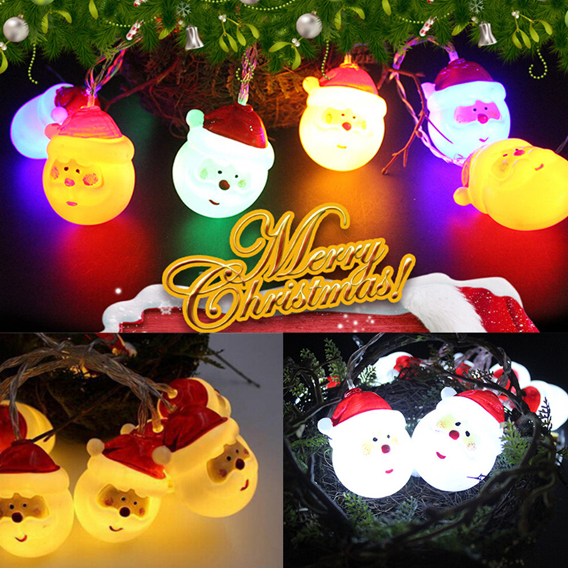 1.5M 10LEDs Santa Claus Shape String Light for Indoor/Outdoor Night Light  Christmas Decorations