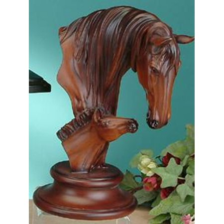 Colts Decorations (Faux Wood Horse with Colt Collectible Decoration Design Animal)