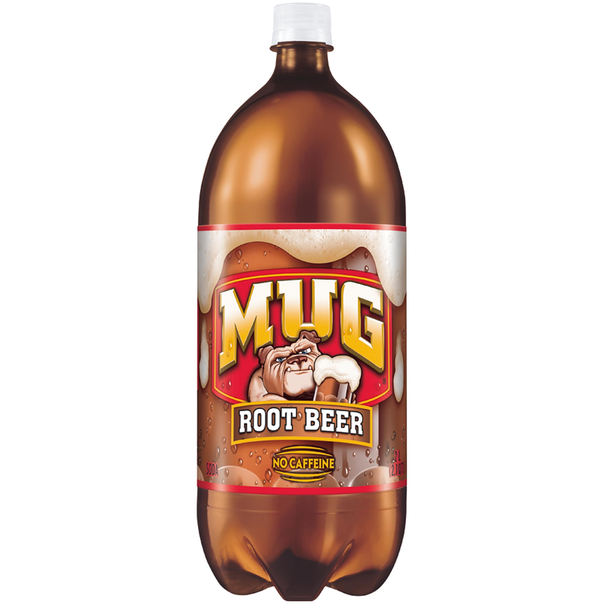 Mug Root Beer Soda 2 Liter Plastic Bottle