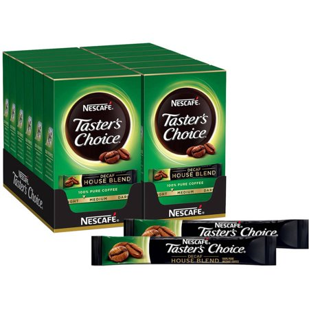 Nescafe Taster's Choice Decaf House Blend Instant Coffee, 0.52 oz, 12