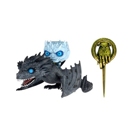Collectible Toy and Novelty Character Accessories Funko Game of Thrones Viserion Pop! Vinyl Ridez with Night King Figure and Dragon (2pc Set) and Dark Horse Deluxe Game of Thrones Hand of the King Lap