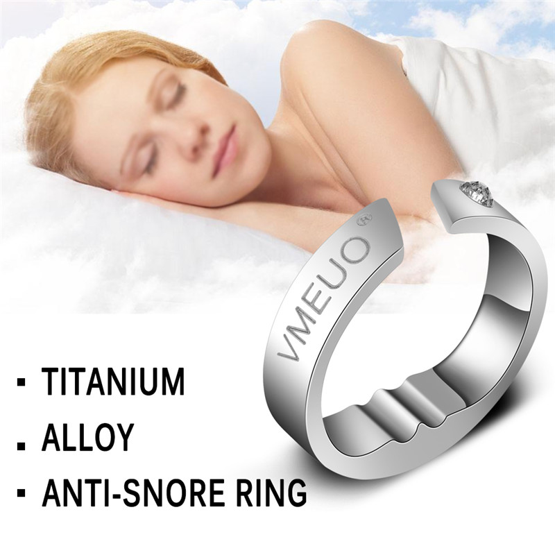 Anti Snoring Ring,Stopper Sleeping Breath Aid Acupressure Treatment Stop Snore Device