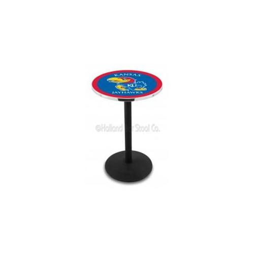 NCAA Pub Table by Holland Bar Stool, Black - UL Lafayette, 36'' - L211