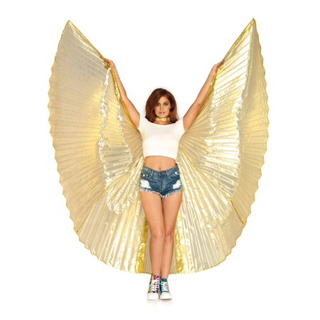 360 degree pleated halter Isis wings - Isis Halloween Party