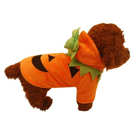 Halloween Pet Dog Shirt Pumpkin Painting Polar Puppy Coat Pets Clothes