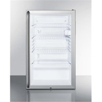Accucold SCR450L7SHADA 24.25 x 20 in. ADA Height Glass Door All-Refrigerator with Lock - White